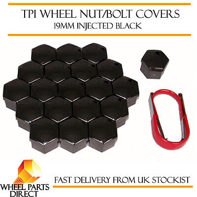 TPI Injected Black Wheel Bolt Nut Covers 19mm for Fiat Ducato [Mk1] 94-98