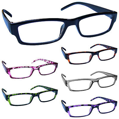 Reading Glasses Mens Womens Lightweight Designer Style UV Reader