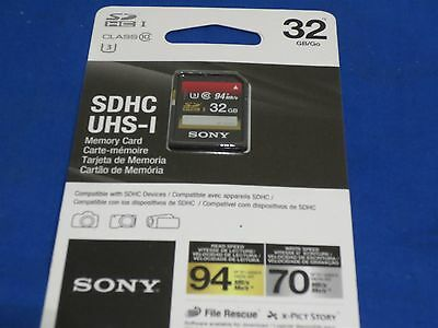 Sony 32Gb Sdhc Memory Card Class 10 Uhs-3 94Mb/s High Speed Sd Supports 4K Tv