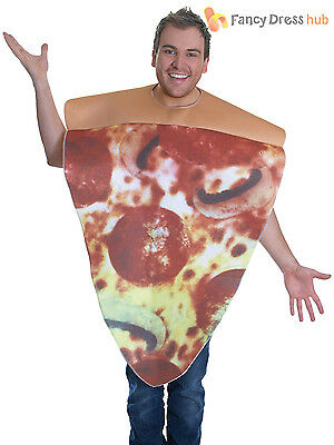 Adult Pizza Slice Costume Mens Ladies Funny Novelty Food Fancy Dress Stag Outfit