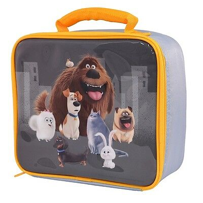 The Secret Life of Pets Kids School Lunch Bag, Childrens Picnic Lunch Box