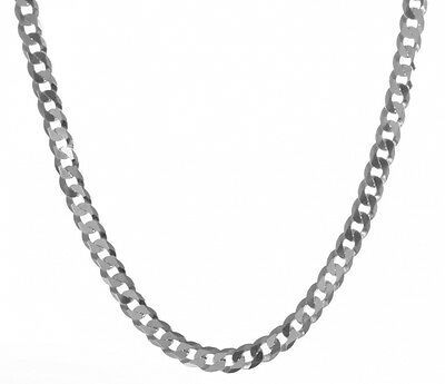 925 Sterling Silver Men curb Chain - 51.1cm , 19 Grammes. Shipping is Free