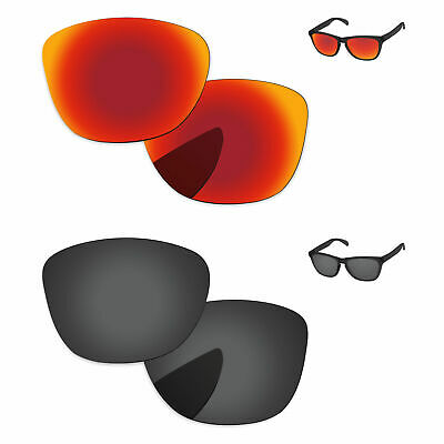 6f1501cf157 Black   Fire Red Mirror Polarized Replacement Lenses For-Oakley Frogskins