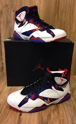 2f7481e2aadfab RARE🔥Air Jordan Retro 7 Nothing But Net White Red Black 304775 142 Sz 11