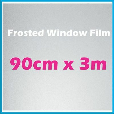 90CM x 3m Privacy Frosted Frost Frosting Window Film Sticker
