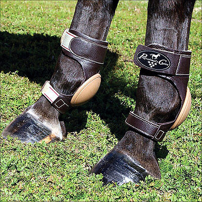 Professionals Choice Leather Skid Horse Reining Roping Leg Boots Pairs