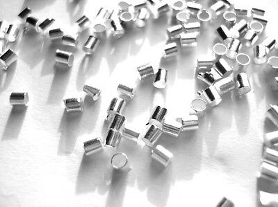 500 SILVER PLATED CRIMP TUBE BEADS FINDINGS 2.5mm