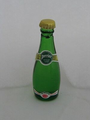 Perrier SPARKLING MINERAL WATER Miniature 3 inch Glass Bottle -New
