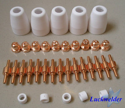 30pcs PT-31 LG-40 Air Plasma Cutter Cutting Torch Consumables Tips electrodes