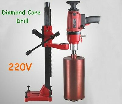 220V Diamond Core Drill Concrete Drlling Machine With Stand Weld Construction
