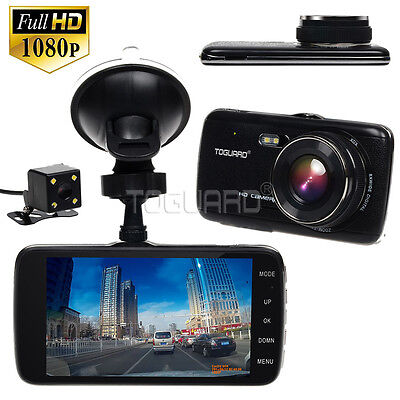 """4"""" IPS Dash Cam Full HD 1080p Car DVR Front and Rear  Camera Video Recorder LDWS"""
