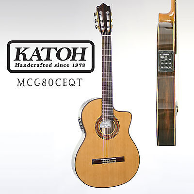 Katoh Mcg80Ceqt Thinline Classical Guitar. Fitted With The Fishman Presys Blend