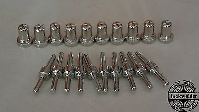 20pcs LG-40 PT-31 Tip Electrode Air Plasma Cutting Extended Nickel-plated CUT-40