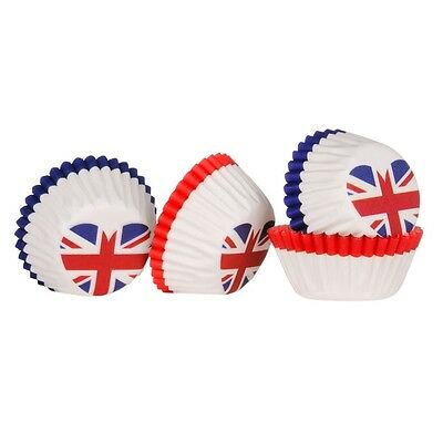 I Love UK Design Mini Cupcake Cases 100pc Greaseproof Paper. Free Shipping