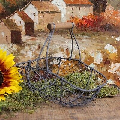 Antique-Style Wire Garden Basket Home Decor. Shipping Included
