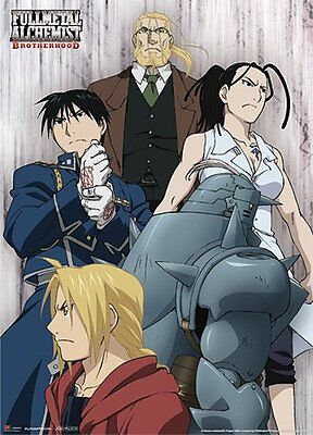 *NEW* Fullmetal Alchemist: Elric Bros Hohenheim Roy & Izumi Wall Scroll by GE