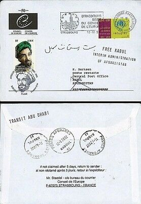 "PE472 FDC Council of Europe - AFGHANISTAN ""Commandant MASSOUD, Afghanistan"" 2001"