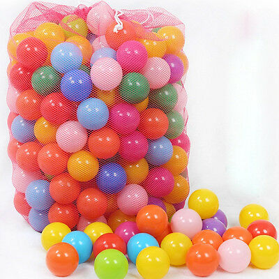 70mm Colorful Soft Plastic Ocean Ball Secure Baby Kid Pit Swim Fun Toy New