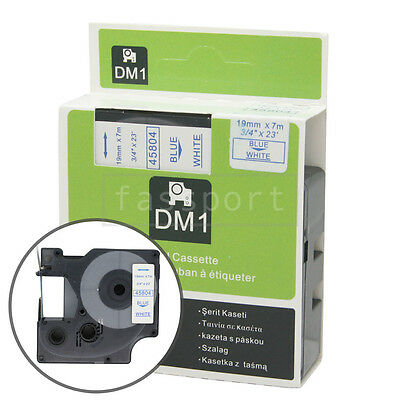 """1pk Blue on White Tape Label Compatible for DYMO 45804 D1 19mm 3/4"""""""