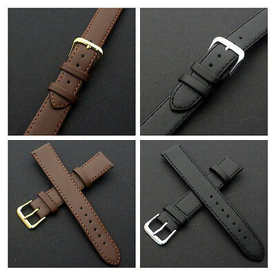 Nice Unisex Soft Leather Watch Bracelet Strap Band Replacement 16-22mm
