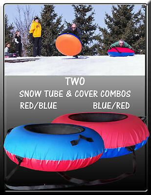 2-PACK Huge SNOW TUBE & COVER COMBOS with Deluxe Maint Kit