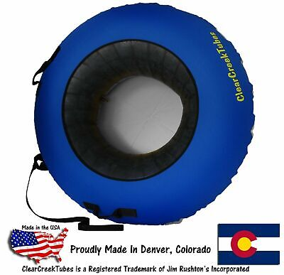 "Huge 44"" Inflated ClearCreekTubes Snow Tube Combo Blue/Gray"