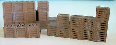 Loading Dock Boxes - O SCALE  Pre-finished From Model Tech  - Model Train Layout