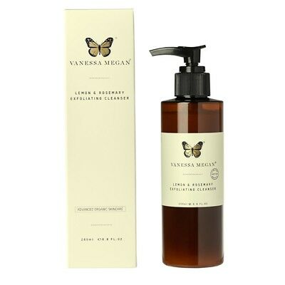 Vanessa Megan Lemon and Rosemary Exfoliating Cleanser (200ml) | BRAND NEW