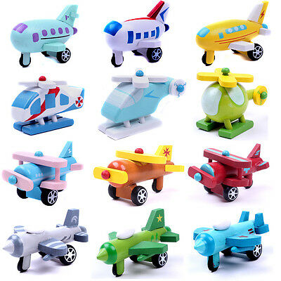 Mini Wooden Aircraft Airplane Educational Hand Made Toys Baby Kids Children Gift