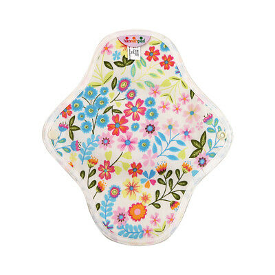 hannahpad Certified Organic Washable Small Pad - Flower Garden Blue (2 Pack) NEW