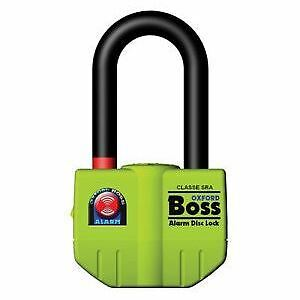 Oxford Motorcycle Bike Security Boss Alarm Disc Lock Thatchem Approved OF3