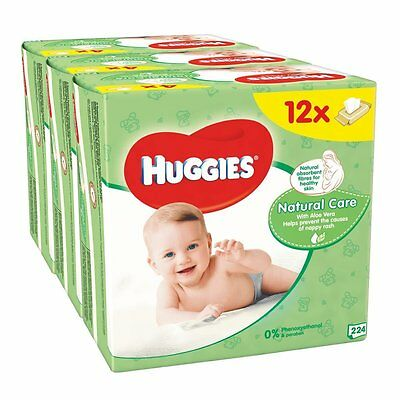 Huggies Natural Care Baby Wipes - 56 Wipes Per Pack, Total 672 Wipes