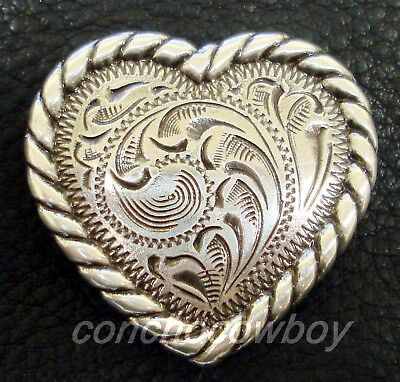 WESTERN HORSE SADDLE HEADSTALL TACK ANTIQUE FLOWER screw back CONCHO SIZE 1 INCH