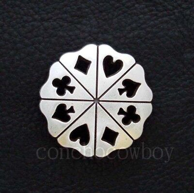 """WESTERN HORSE SADDLE HEADSTALL TACK BRIGHT SILVER BERRY CONCHO 1/"""" screw back"""