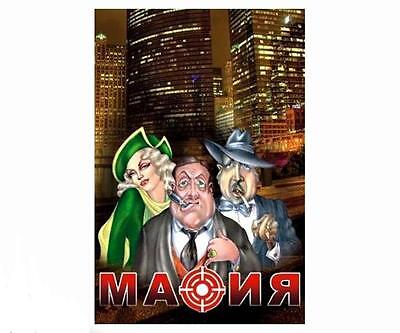 Mafia Russian мафия игра detective verbal fun game 17 role playing cards
