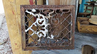 Antique Cast Iron Decorative Victorian Heat Floor Wall Register Vent Grate #4