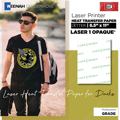 Laser 1 Opaque Heat Transfer Paper / Dark Colors 100 Sheets :)