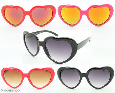 Childrens Kids Girls Heart Shaped Lolita Sunglasses Coloured Flash Mirror Lens