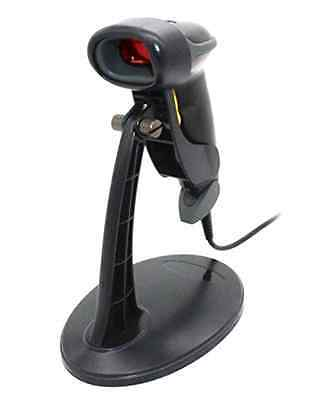 Barcode Scanner USB Automatic Kit Scanning Barcode Reader Hands Free Stand Black
