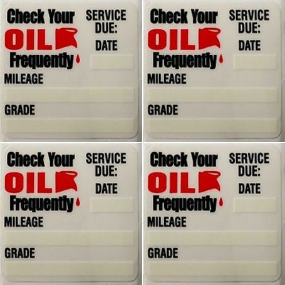 100pc Oil Change Reminder Sticker Decals 2x2 Static Cling