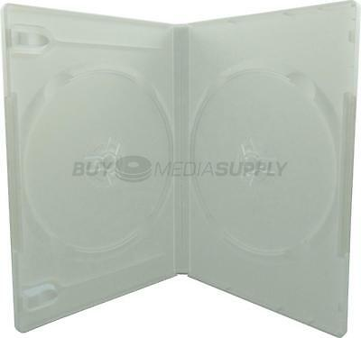 14mm Standard White Double 2 Discs DVD Case - 20 Pack