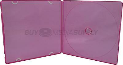 5mm Slimline Red Color 1 Disc CD/DVD PP Poly Case - 400 Pack