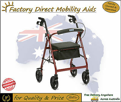 Drive Aluminium R8 Rollator Walker 4 Wheels Walking Frame Foldable New