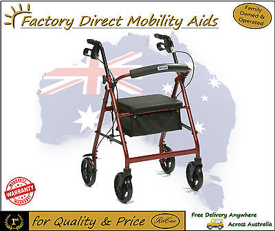 Light weight Drive Aluminium R8 Rollator Walker Outdoors Use New