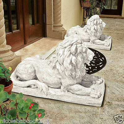 Stately Lion Sentinel Sculpture British Traditions For Entry Gates