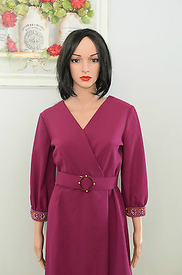 Vintage 1940's Style Occasion Day Dress - Made In New Zealand