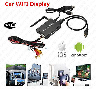 Car WIFI Mirror Link Box For Android iOS Navigation, Audio, Video to Car Screen