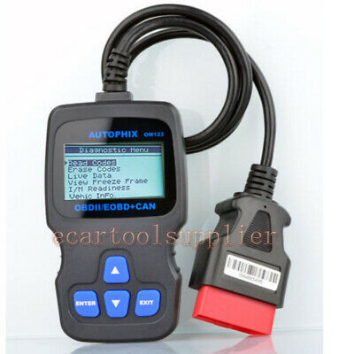 OM123 OBD2 EOBD CAN MIL Engine ECU Code Reader Scanner Auto Diagnostic DIY Tool