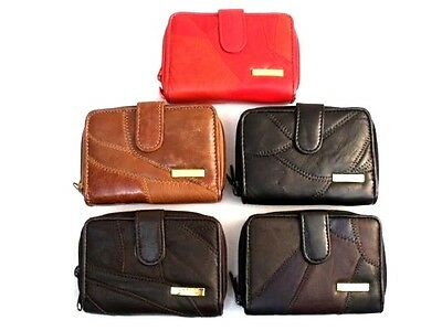 Ladies New High Quality Luxury Super Soft Patchwork Leather Purse Credit Card