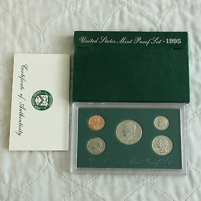 USA 1995 s 5 COIN PROOF YEAR SET - complete
